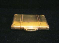 Vintage Suitcase Compact Powder Compact Rouge Compact Mirror Compact Novelty Compact 1930s Compact