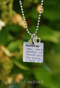"One Artsy Mama: Mod Podge ""Mother"" Necklace"