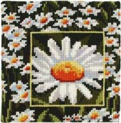 Daisy Cushion Front Cross Stitch Kit by Vervaco
