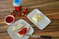Strawberry jam without sugar (sugarfree) Larder, Strawberry Jam, Sugar Free, Panna Cotta, Ethnic Recipes, Food, Pantry, Sugar Free Jam, Strawberries