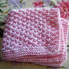 #Knitting Box Stitch Baby Blanket - Free Pattern