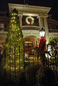 Historic Huntsville, Alabama. All dressed up for the season.  This is my all time favorite home in the Old Town District - The Vanvalkenburg Home.