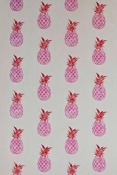 Pineapple Wallpaper at Barneby Gates (houseandgarden.co.uk)
