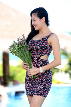 Flower dress for summer 2014 - Product code D436 -  Contact: levufashion@gmail.com, phone +84 936 156006