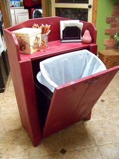 Primitive Trash Bin... Just finished today.  More pics available upon request.  Patent # watchingtherepins HA