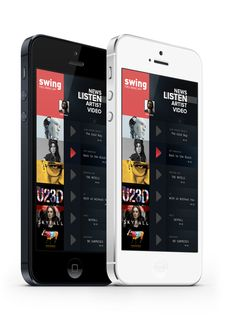 iphone Music App. Concept by Enes Danış, via Behance