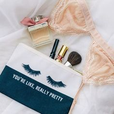 You're like, really pretty makeup pouch. Click image to shop! www.shopmisswithit.com