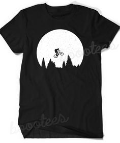 Forest Over Print T-Shirt,Boy T Shirt,Size XS-2XL Big,Green Woodland at Sunrise