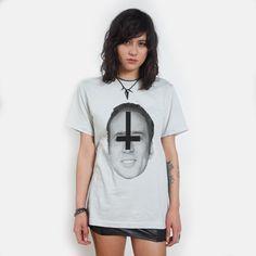 this satanic Nicolas cage t-shirt is pretty cool