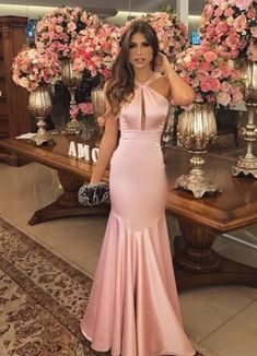 2018 Long Sleeve Gold Prom Dresses,Long Evening Dresses,Prom Dresses On Sale Want a glamorous red carpet look for a fraction of the price? Pink Formal Dresses, Dresses Elegant, Gold Prom Dresses, Prom Dresses For Sale, Beautiful Dresses, Bridesmaid Dresses, Party Dresses, The Dress, Pink Dress