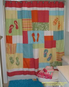 Flip Flops Beach Shower Curtain