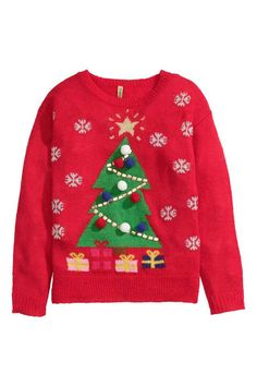 Il est grand temps de penser à son pull de Noël... Vous êtes plutôt sapin ?  A shopper sur le site H&M