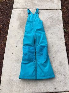 Kids Girls Lands' End Teal Blue Insulated Bib Ski Snow Pants Size 8 Mint New  | eBay