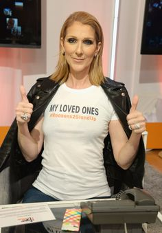 Stars Unite to Fight Against Cancer  Pictured: Céline Dion