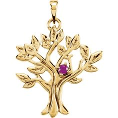 14kt White 3mm Round 1 Stone My Tree™ Pendant Mounting | Stuller