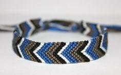 Winter Wonder Chevron Friendship Bracelet by SugaPlums on Etsy, $8.00