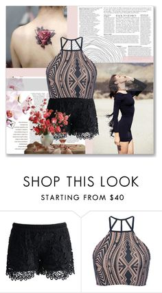 """Dark Rose"" by indigo-summer ❤ liked on Polyvore featuring Anja, Chicwish and Triya"