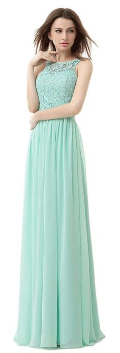 US$91.45-Elegant High-neck Sleeveless Green Long Prom Dress With Open Back.   http://www.doriswedding.com/high-neck-long-gown-with-lace-detail-bodice-p310473.html.  Free custom made service of any dress design & Free Shipping! Sequin prom dress, beaded prom dress, vintage prom dress 2016, two-pieces prom dress, satin prom dress, long prom dress, elegant prom dress, follow us to get more special offer! #DorisWedding.com