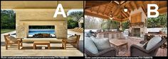 Which outdoor living room do you prefer?