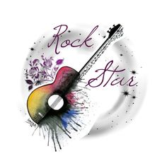 """""""Rock Star 🌟 logo contest 🎸"""" by marinade11 ❤ liked on Polyvore featuring art"""