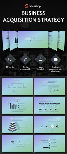 How about this slide design for your #marketing plan presentation - acquisition strategy