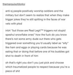 """STOP MAKING """"TRIGGERED"""" JOKES YOU PIECE OF SHIT"""