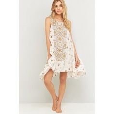 'Free People' Slip Into Me Dress Patterned dress by intimately free people. In the color tea combo. Free People Dresses Midi