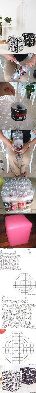 assento de garrafa pet