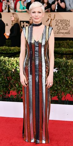 See All the Celebrity Looks from the 2017 SAG Awards Red Carpet - Michelle Williams from InStyle.com