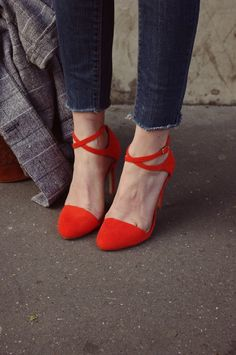 #shoes #heels #orange