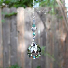 Silver Heart Prism Crystal