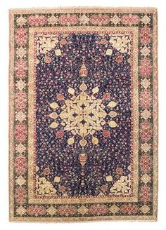 Agra,    North India, c. 265 x 182 cm, about 1880, Indian hand knotted carpet in Ardebil designI Dorotheum Sale Sept 2015