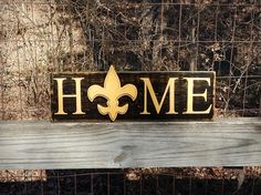 New Orleans Saints Home Sign Louisiana Saints by HowGreatThouArts