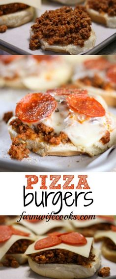 Pizza Burgers are a fun twist on Pizza Night that everyone will love! This recipe can be adapted with your families favorite pizza toppings. #Pizza #Grilling #Burgers
