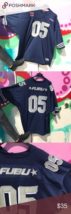 Men's vintage Fubu jersey Preown men's Retro Fubu jersey. Fair condition. No rips, tears, holes or stains. Very rare 90's gem we have here. A little bit of wearing on the number part as you can see in pictures. fubu Shirts Tees - Short Sleeve