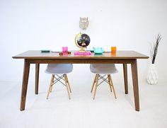 Modern Black Walnut Dining Table, Midcentury Dining Table, The Bossa Nova