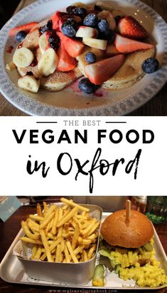 There is lots of yummy vegan food in Oxford, England to try. Vegans should visit Oxford to try some of the best vegan pancakes in the UK, eat at a veggie pub, eat mouthwatering vegan fas Oxford England, Best Vegan Pancakes, Vegan Blog, Easy Vegetarian Dinner, Fast Food, Best Street Food, Delicious Vegan Recipes, Vegan Meals, Best Dishes