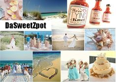 personalized wedding favors ... DaSweetZpot.com  beach theme Wedding Favors... tropical summer destination wedding.. seashells...  sand... love... tying the knot hot sauce favors