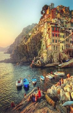 Riomaggiore Cinque Terre, Italy, just came back from there. Breathtakingly beautiful but oh so crowded!