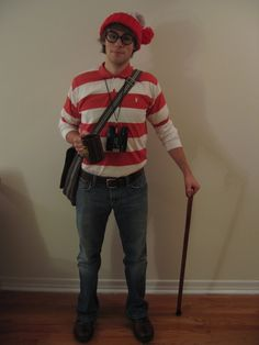 Waldo from Where's Waldo | 27 Halloween Costumes For Elementary School Teachers