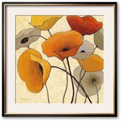 Art.com Pumpkin Poppies II Framed Art Print by Shirley Novak