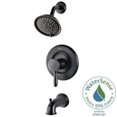 Pfister Universal 1-Handle Tub and Shower Faucet Trim Kit in Tuscan Bronze (Valve Not Included) R90-WSTD2Y at The Home Depot - Mobile