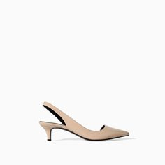 KITTEN HEEL SLING BACK from Zara