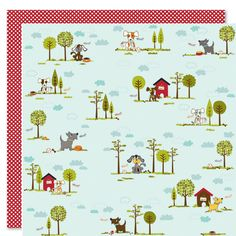 Bella Blvd - Tail Waggers and Cat Naps Collection - 12 x 12 Double Sided Paper - Puppy Park at Scrapbook.com $1.09