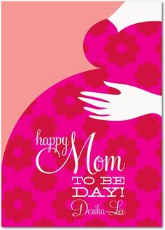Sweet Maternity - Mother's Day Greeting Cards - Eleanor - Fuchsia - Pink : Front