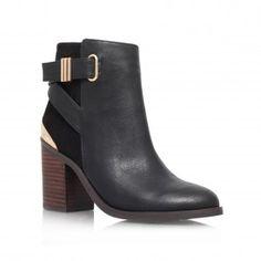 Kurt Geiger | SHOLA Black High Heel Ankle Boots by Miss KG