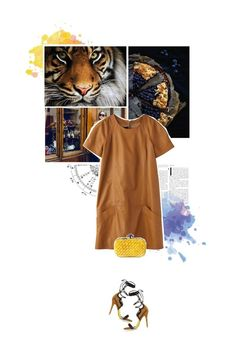 """eye of the tiger."" by eve-angermayer ❤ liked on Polyvore featuring moda, Forum, Daniele Michetti e Bottega Veneta"