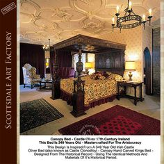 Castle Design Bed, Canopy Bed, Four Poster Beds, Hand Crafted In America  Since