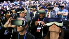 People wear Samsung Gear VR devices as they attend the launching ceremony of the new Samsung and edge smartphones during the Mobile World Congress in Barcelona, Spain, February REUTERS/Albert Gea Augmented Reality, Virtual Reality, Playstation, New Social Network, Newest Smartphones, Mobile World Congress, New Samsung, Arrancar, Vr Headset