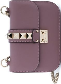 Valentino Purple 'Glam Lock' Shoulder Bag
